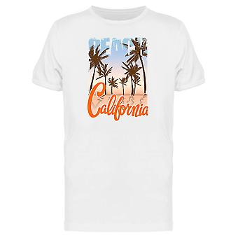 California Beach Sunset And Palm Tee Men's -Image by Shutterstock