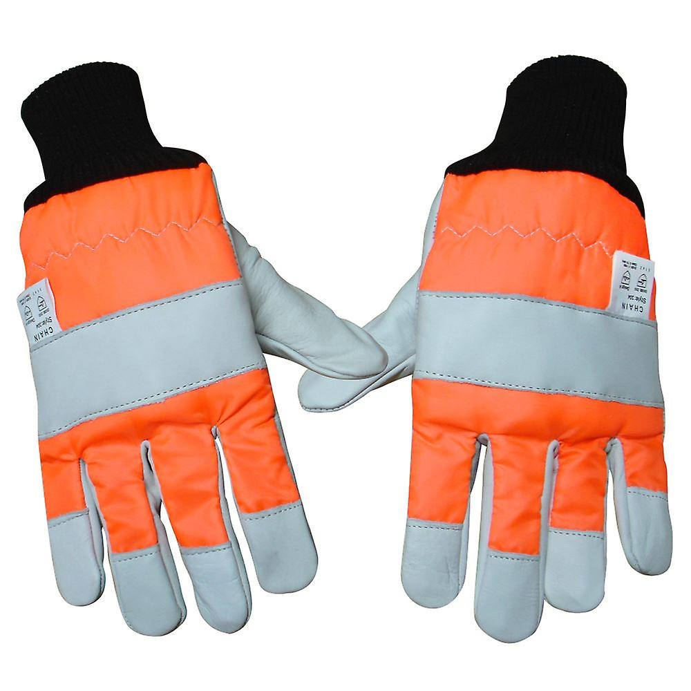 CHAINSAW SAFETY GLOVES BOTH HANDS PRO SIZE 12 CLASS 0