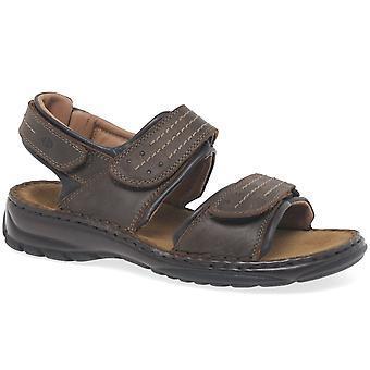 Josef Seibel Firenze Triple Velcro Mens Walking Sandals