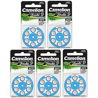 30-pack Camelion Hearing Aid Batteries Type 675 Blue