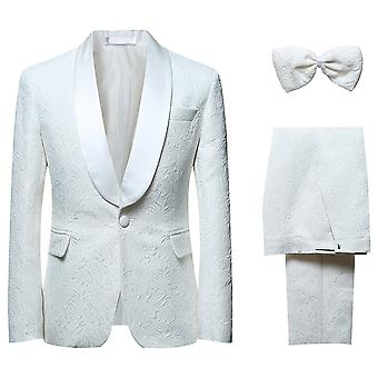 Allthemen Männer Jacquard 2-teilig Hochzeitsanzug & Fliege