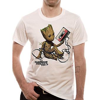 Men's Guardians of The Galaxy Groot and Tape T-Shirt