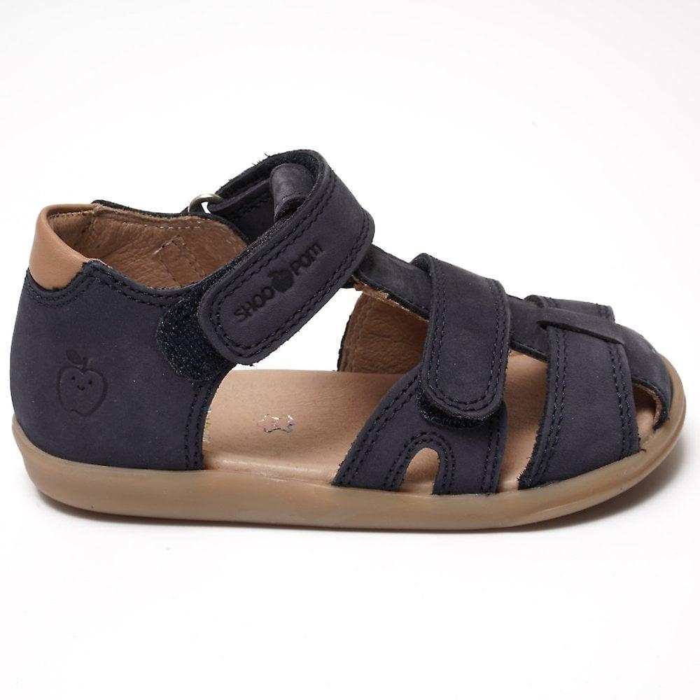 Shoo Pom Av Pomme Pika Scratch Nubuck Sandal, Navy/camel