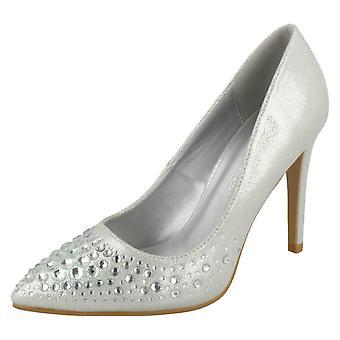 Ladies spot på Diamante Court Shoes F90061
