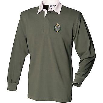 Army Air Corps - Licensed British Army Embroidered Long Sleeve Rugby Shirt