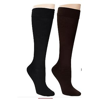 Legacy sokken set van 2 stretch brei pull-on zwart/bruin A269482
