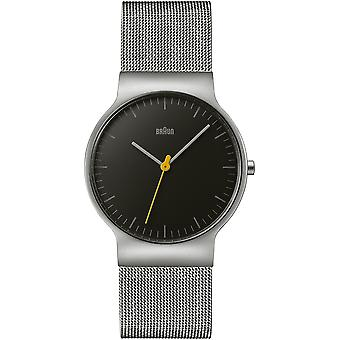 Braun classic gent watch Japanese Quartz Analog Man Watch with BN0211BKSLMHG Stainless Steel Bracelet
