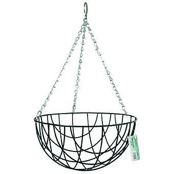 Bricomed Hanging basket Twisted Steel plasticized or