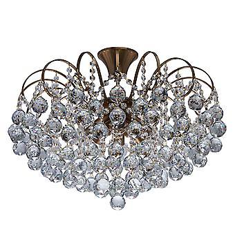 Glasberg - miele ottone otto luce semi-incasso con cristalli 232016808
