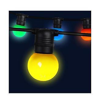 23M Led Festoon String Lights 20 Bulbs Multicolored G45