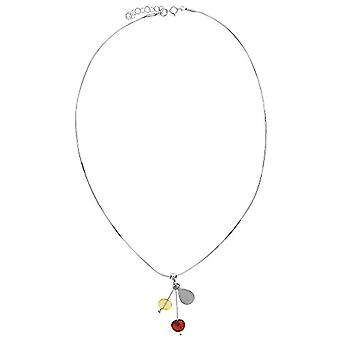 Nature d'Ambre - Short silver necklace 925 - with amber - length: 35 cm