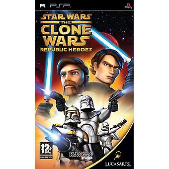 Star Wars The Clone Wars-Republic Heroes (PSP)-nieuw
