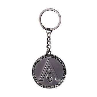 Assassins Creed Odyssey Keychain Keychain Helmet Logo new Official Metal