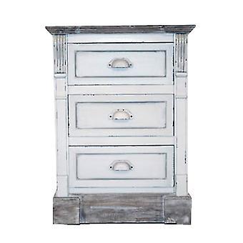 Weiß Shabby Chic Vintage Französisch Stil Nachttisch 3 Schublade Schlafzimmer Möbel