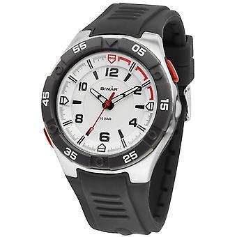 SINAR Youth Watch Wristwatch Analog Quartz Silicone Band Flashlight XD-45-1