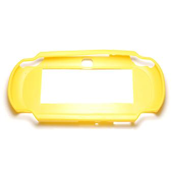 Tpu semi rigid bumper protective case cover skin grip for sony ps vita 1000 - yellow