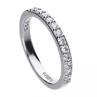 Diamonfire Silver White Zirconia Ring R3645