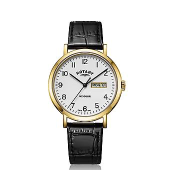 Rotary GS05303-18 Windsor Day Date Wristwatch