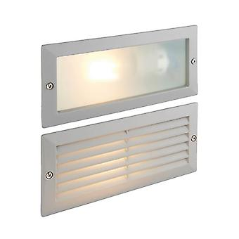 Saxby Lighting Eco 1 Light Outdoor Recessed Light Textured Grey, Frosted Glass IP44 52213