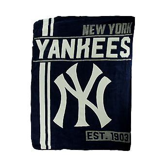 MLB ニューヨーク ヤンキース マイクロ ラッセルぬいぐるみスロー ブランケット 46 × 60 インチ