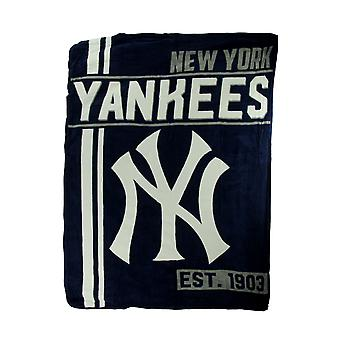 MLB New York Yankees Micro Raschel Plush Throw Blanket 46 x 60 inch