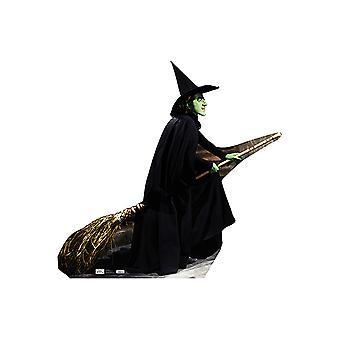 Boze heks - bezemsteel kartonnen uitsnede