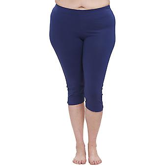 Rösch 1194660-16516 Women's Curve Dark Blue Knee Length Leggings