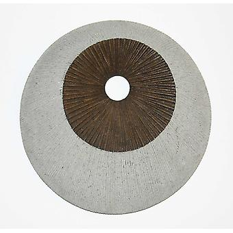 """1"""" x 19"""" x 19"""" Brown & Gray Round Double Layer Ribbed  Wall Decor"""