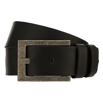 Cinturón de teal hombres correa de cuero Cinturón denim Negro 8332