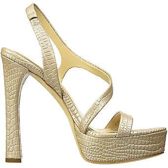 Imagine Vince Camuto Women's Prent Heeled Sandal, Natural, 8.5 Medium US