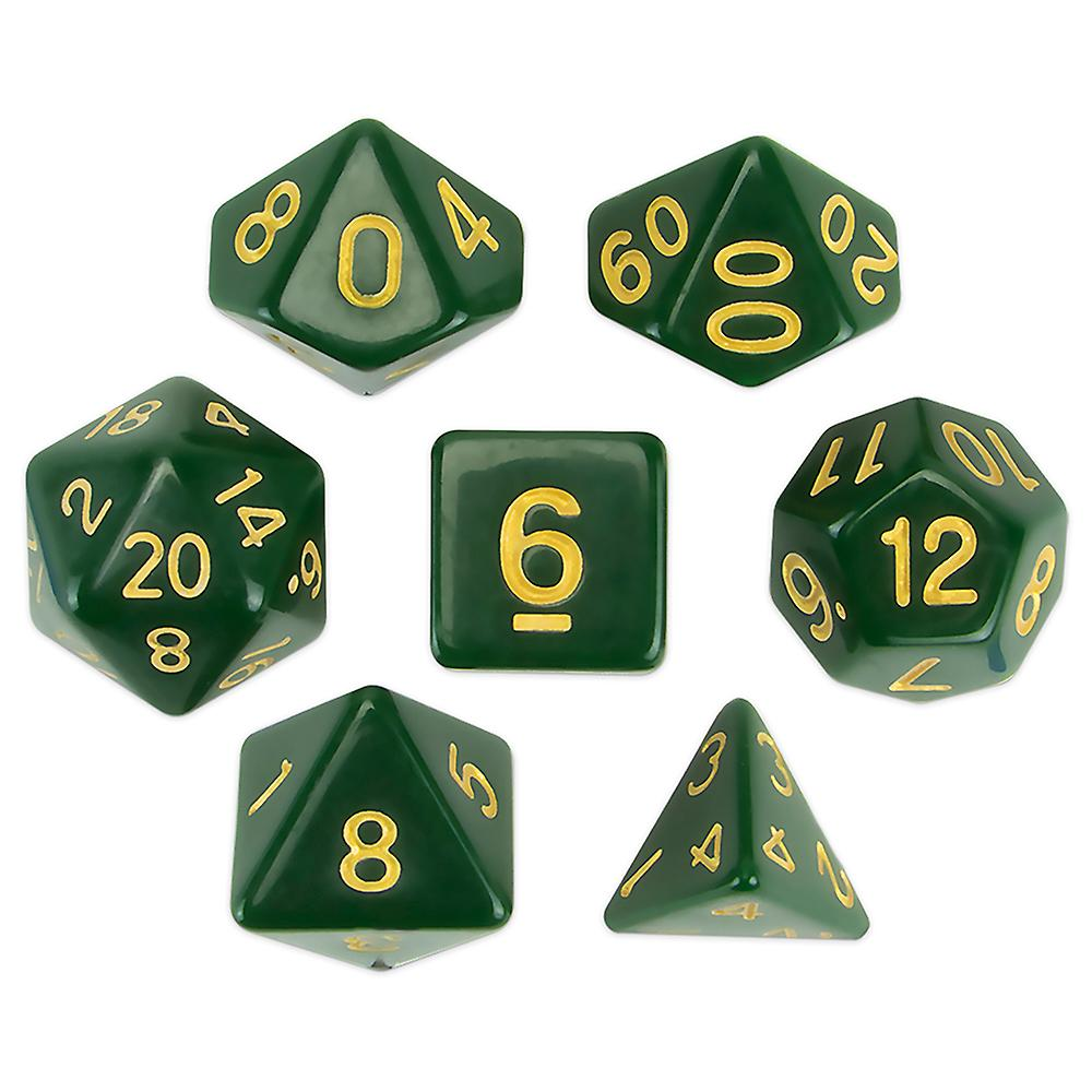 Set of 7 Polyhedral Dice, Blighted Grove