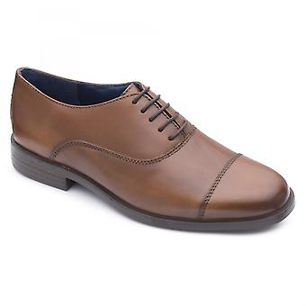 Padders Kensington Mens Leather Wide (g Fit) Shoes Tan