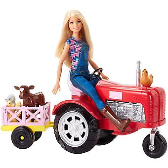 Barbie Doll And Tractor Farmer Docka Med Traktor Bondedocka