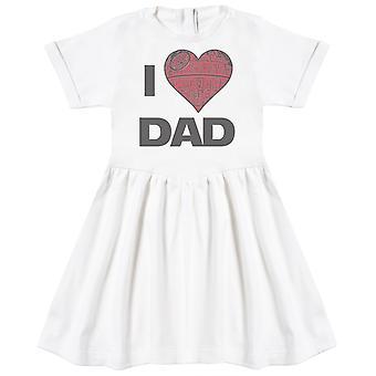 I Love Dad Star Heart - Baby Dress