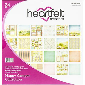 "Heartfelt Creations Double-Sided Paper Pad 12""X12"" 24/Pkg-Happy Camper"
