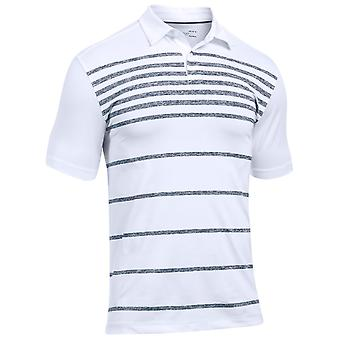 Under Armour Mens UA Coolswitch Brassie Stripe Golf Polo Shirt