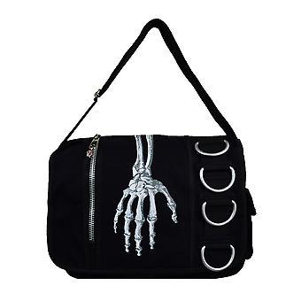 Prohibido bandolera mano esqueleto