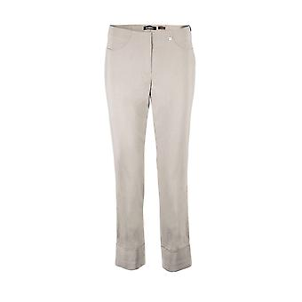 Robell Bella Ankle Grazer Trousers in Silver
