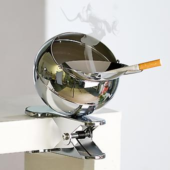 Casablanca ashtray wind clip metal silver shiny height approx. 13 cm