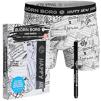 Bjorn Borg uudenvuoden ' s resoluutio tulosta nyrkkeilijä runko kynällä, valkoinen