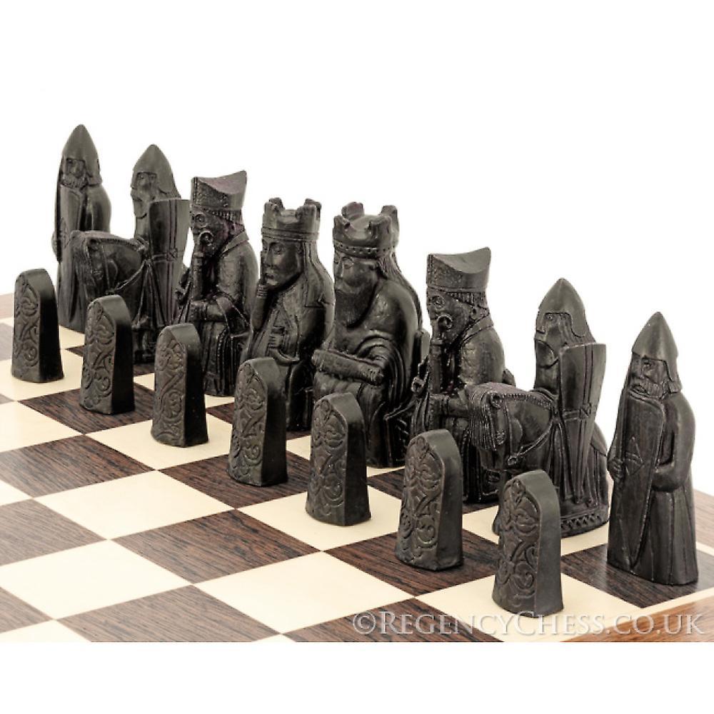 Isle Of Lewis European Wenge Chess Set