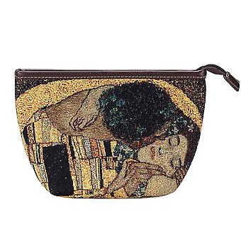 Gustav klimt-Goldkiss Make-up-Tasche von signare tapestry/Make-eup-Kunst-gk-gdks