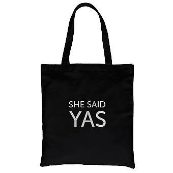 Hän sanoi Yas-hopea musta kangas olka laukku Adoring makea Chic