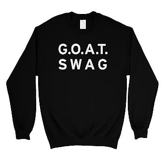 365 Printing GOAT Swag Sweatshirt Unisex Black Round Neck Pullover Funny Gift