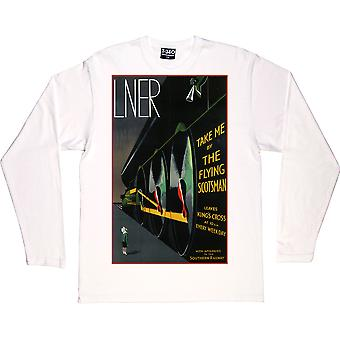 Take Me By The Flying Scotsman White Long-Sleeved T-Shirt