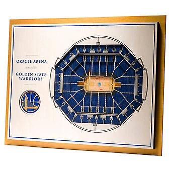 YouTheFan hout Wall deco stadium Golden State Warriors 43x33