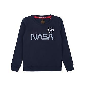 알파 인더스트리 키즈 스웨트셔츠 NASA 반사