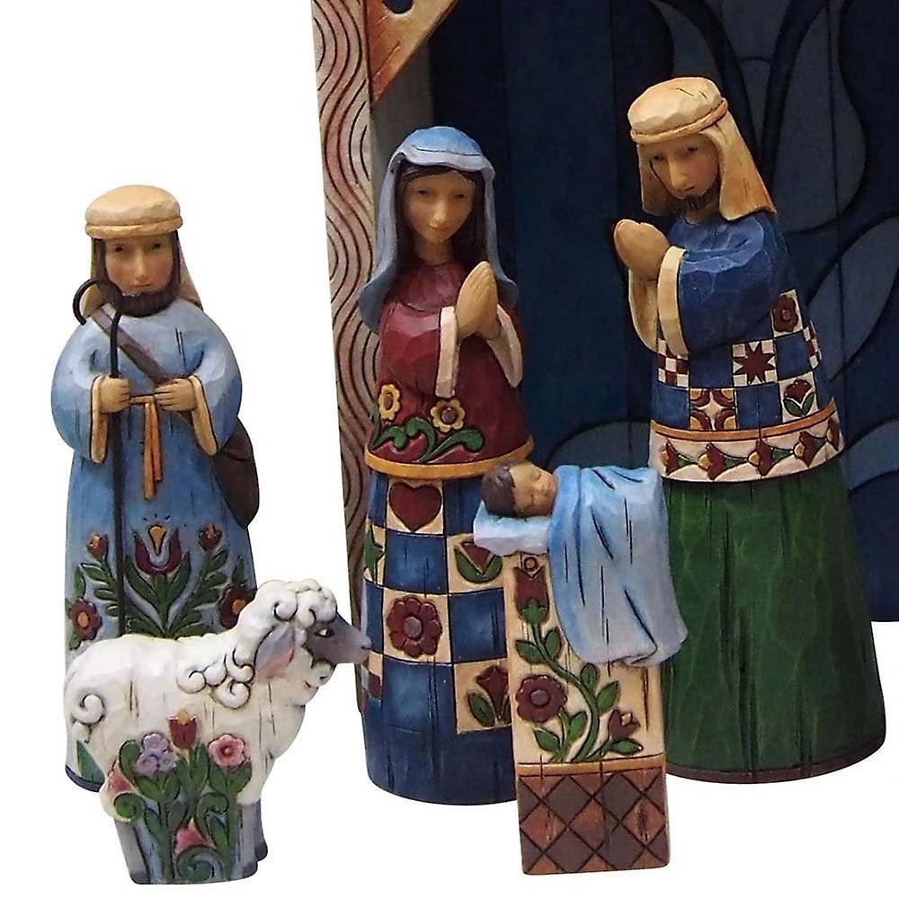 Jim Shore Heartwood Creek Folklore Nativity Nine Piece Set
