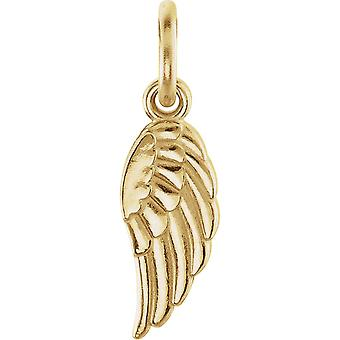 14k Yellow Gold Charm 19.7x5.5mm Polished Posh Mommy Collection Wing Charm With Jump Ring Jewelry Gifts for Women
