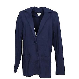 Joan Rivers Classics Collection Women's Blazer Signature Ponte Blue A343480
